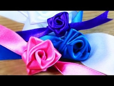 How to Make Christmas Ribbon Roses