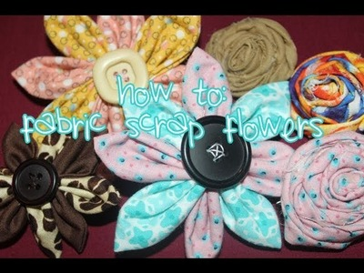 How to Make Two Fabric Scrap Flowers