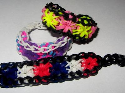 Loom Bands STARBURST Bracelet (Gumičky návod Crazy Loom. bands. Fun Loom)