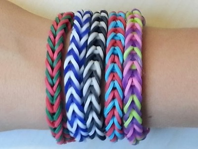 RAINBOW LOOM FISHTAIL BRACELET BY HAND - EASY