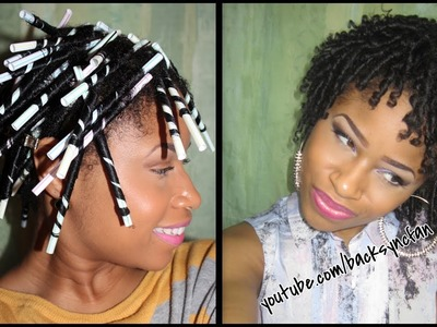 STRAW SET on NATURAL HAIR | Defined, Bouncy Curls!