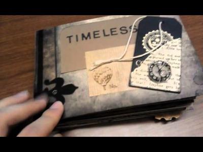 Travel Album Envelope Mini + Vintage.steampunk paper bag mini