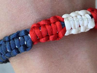 Tutorial: 4th of July Cobra Stitch Bracelet