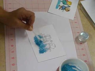 Using Colored Glitter! Bling, Bling!