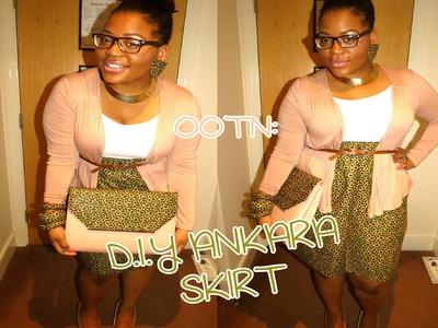 ☆100☆ OOTN: D.I.Y Ankara Skirt.