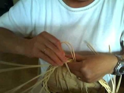 Basket Weaving Video #26b - Mini Muffin Basket Step 2 of the Braided Rim
