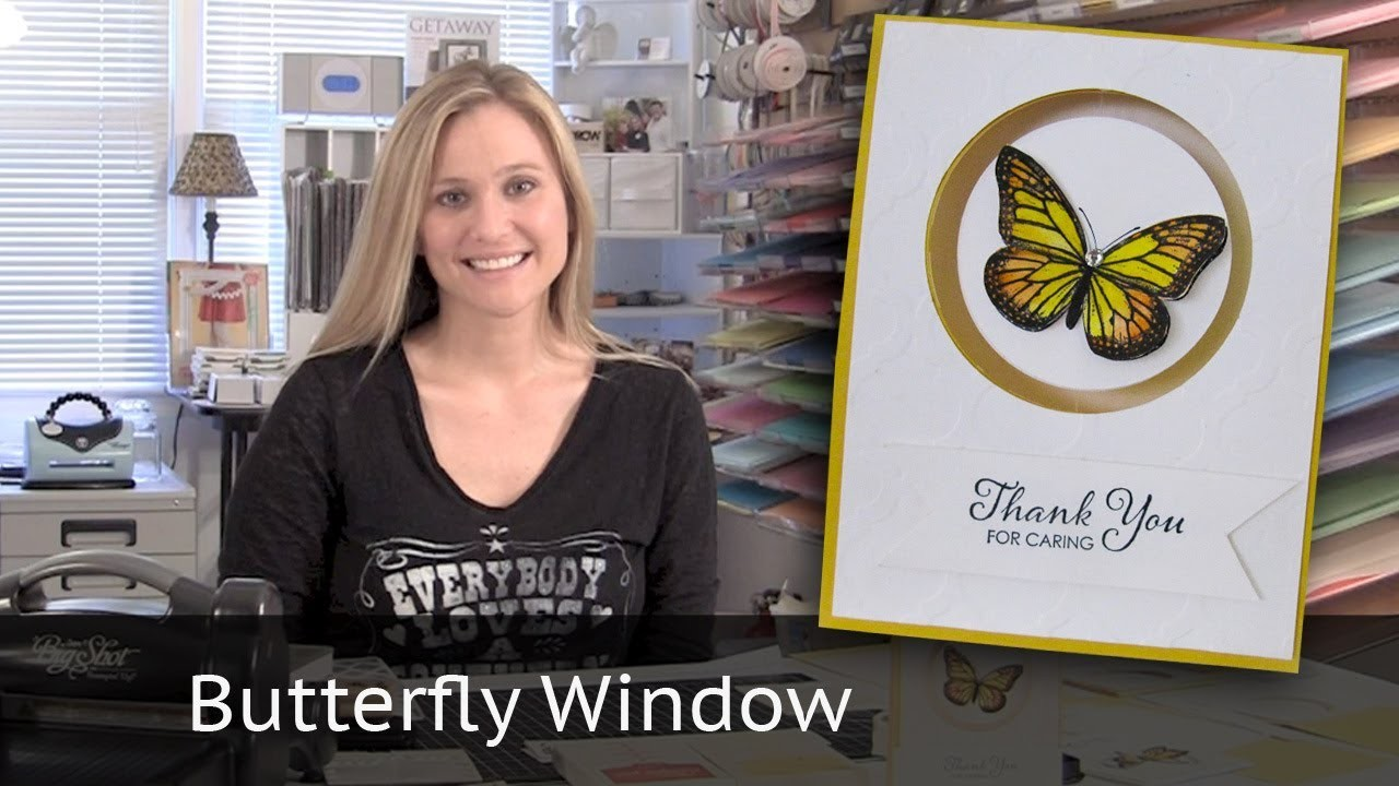 Butterfly Window Card - using Stampin' Up! Aqua Painter