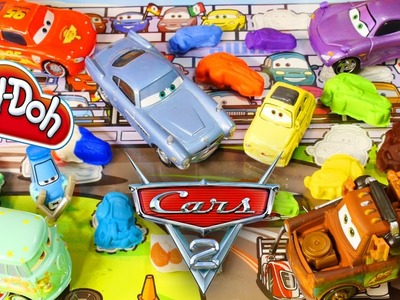 Cars 2 Stamps Play Doh Molds Lightning McQueen Mater Francesco Luigi Guido Disney Pixar Cars Toys