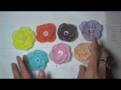 Crepe paper flower tutorial