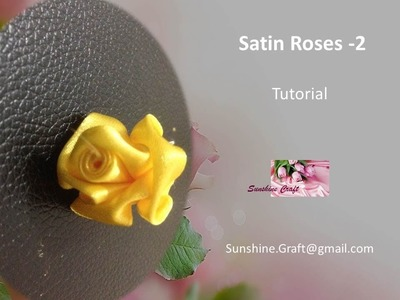 D.I.Y - Making A Satin Roses 2 - Tutorial