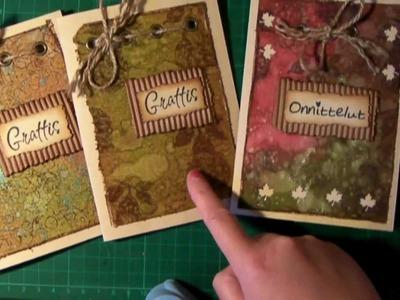 Distress Inks Autumn Birthday Cards