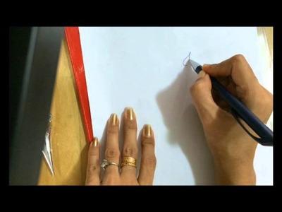 Draw simple ganesha (side face) using mehendi for tattoo 1