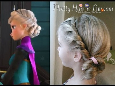 Elsa's Coronation Hairstyle from Disney's FROZEN | Pretty Hair is Fun