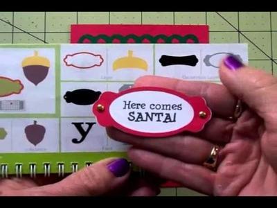 """HERE COMES SANTA!"" CRICUT CHRISTMAS CARD"