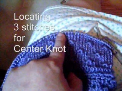 """How """"Knot Stitch"""" Design Lines Up"""