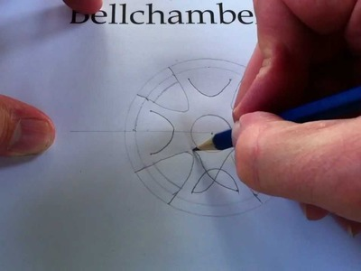 How to Draw Celtic Patterns 43 -  Celtic Cross with triskeles - Leeds 1of5