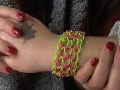 How To Make A Rainbow Loom Dragon Scale Bracelet