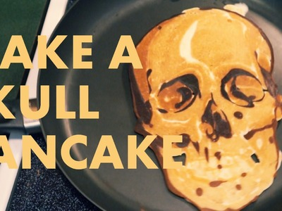 How to make a SKULL PANCAKE (Pancake Art Tutorial)