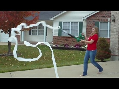 How To Make A Toilet Paper Gun