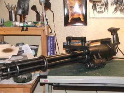 How to make an M134 Minigun prop from scrap