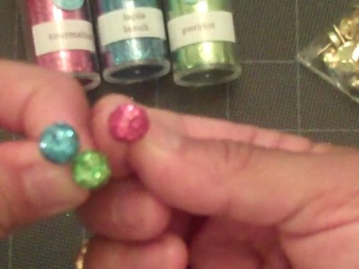How to make your own glitter brads