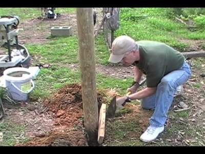How to Set a Corner Post WITHOUT Concrete!