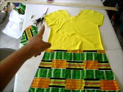 How to Sew a T Shirt Afro Princess Dress