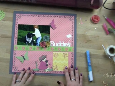 How to Use Fiskars Corner Border Punches and Cricut Kate's ABCs Cartridge