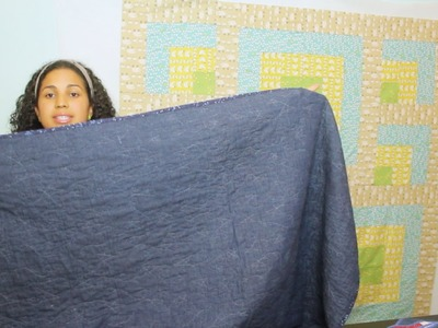 Locally Grown Picnic Quilt Along Series- Part #4 -Denim Backing