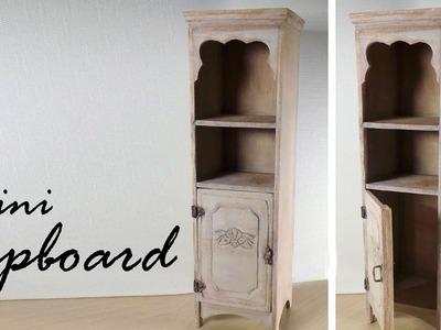 Miniature Furniture; Cupboard. Cabinet Tutorial - Dolls.Dollhouse