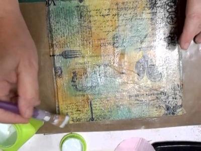 Mixed Media, Altered Tissue Tile Tutorial - jennings644