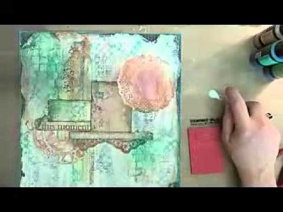 "Mixed Media Layout Start to Finish Tutorial ""This Moment"""