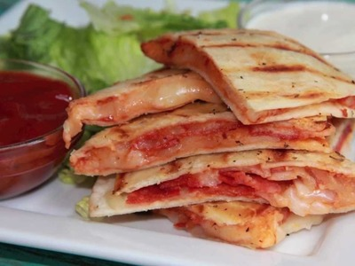 Pepperoni Pizza Quesadilla Recipe - Quick & Easy Lunch Idea!