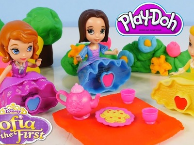 Play Doh Sofia The First Royal Tea Party At Play-Doh Enchanted Garden Disney Junior Princess Dolls