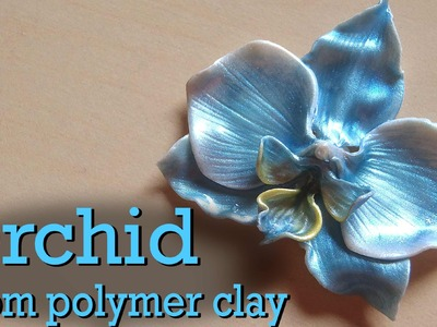 Polymer Clay Orchid Charm Tutorial