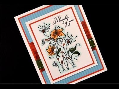 Shabby Spring Simple Floral Card