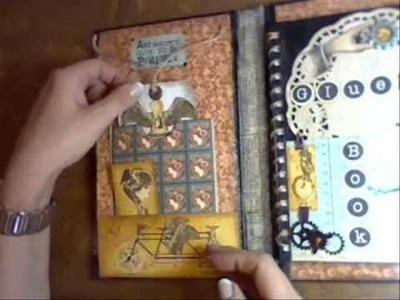 Steampunk Art Journal out of an Amazon Bookpackaging.wmv