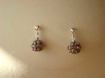 Swarovski filigree ball earrings Aurum and Colorado topaz