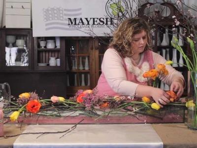 The Art of Flowers April 2012: Garden Party Centerpiece