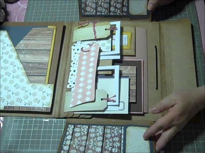 Tim Holtz Folio, Inside  - SO CUTE!  Oct. Kit Video Tutorial Serioes Part 10
