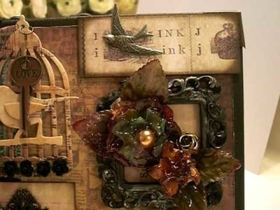 Tim Holtz Inspired Mixed Media Canvas for canadianscrappergirl