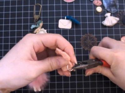 Tim Holtz Swivel Clasp Charm Tutorial Start to Finish - Vintage. Shabby Chic