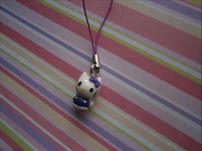 Tutorial - Hello Kitty Charm (Polymer Clay)