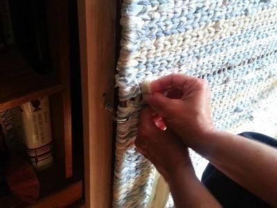 Twining a rag rug video 3
