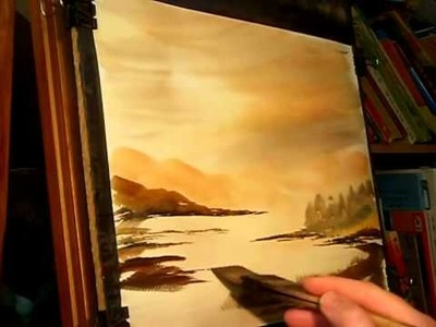 Watercolour Landscape Painting Tutorial Featuring a Scottish Landscape