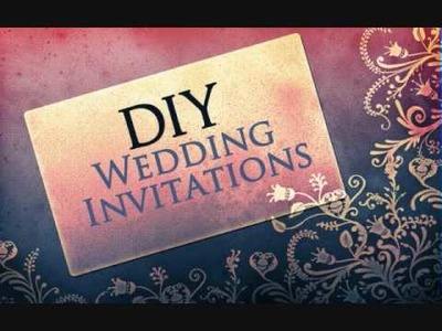 Wedding Invitations - Do It Yourself - FREE Download - How To Do Using Photoshop or Gimp