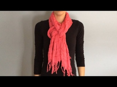 3 Simple Ways to Tie a Scarf in 1 minute