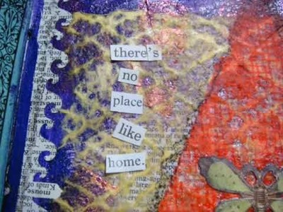 Art journal mixed media There's No Place Like Home