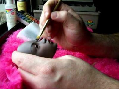 BJD dollfie face-up tutorial part 2