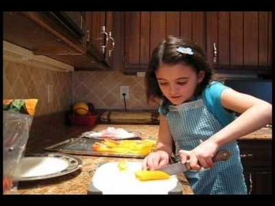 Cooking Bacon Cheese Peppers with 8 yr old Chef Toriana